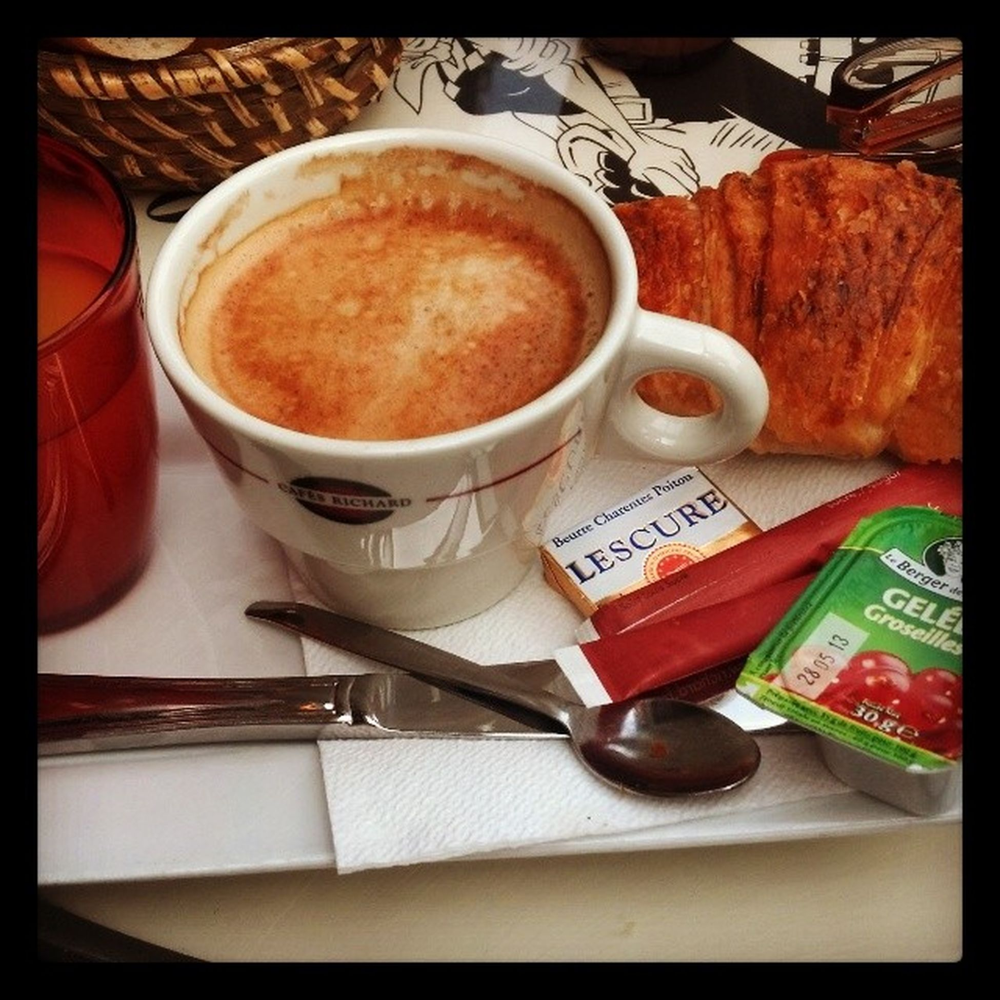 A TBT  pic of my morning coffee and croissant in Paris with @any2ndnow. Can't wait to return in 2016 with her and a group of friends for my birthday. :) MyBirthday Whowantstogo Parisdisneyland englandtoo