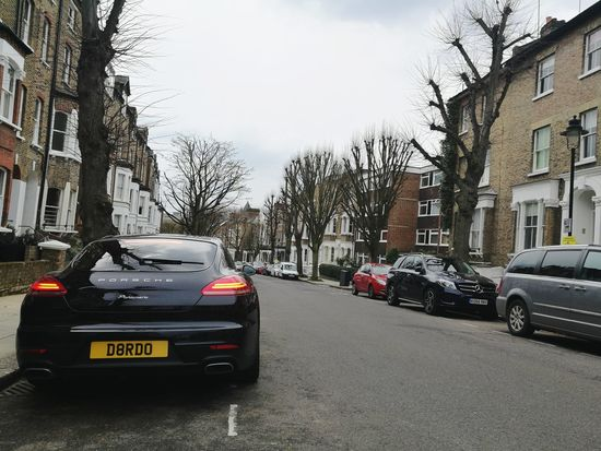 Car Porsche Panamera City Trees Urban Daytime