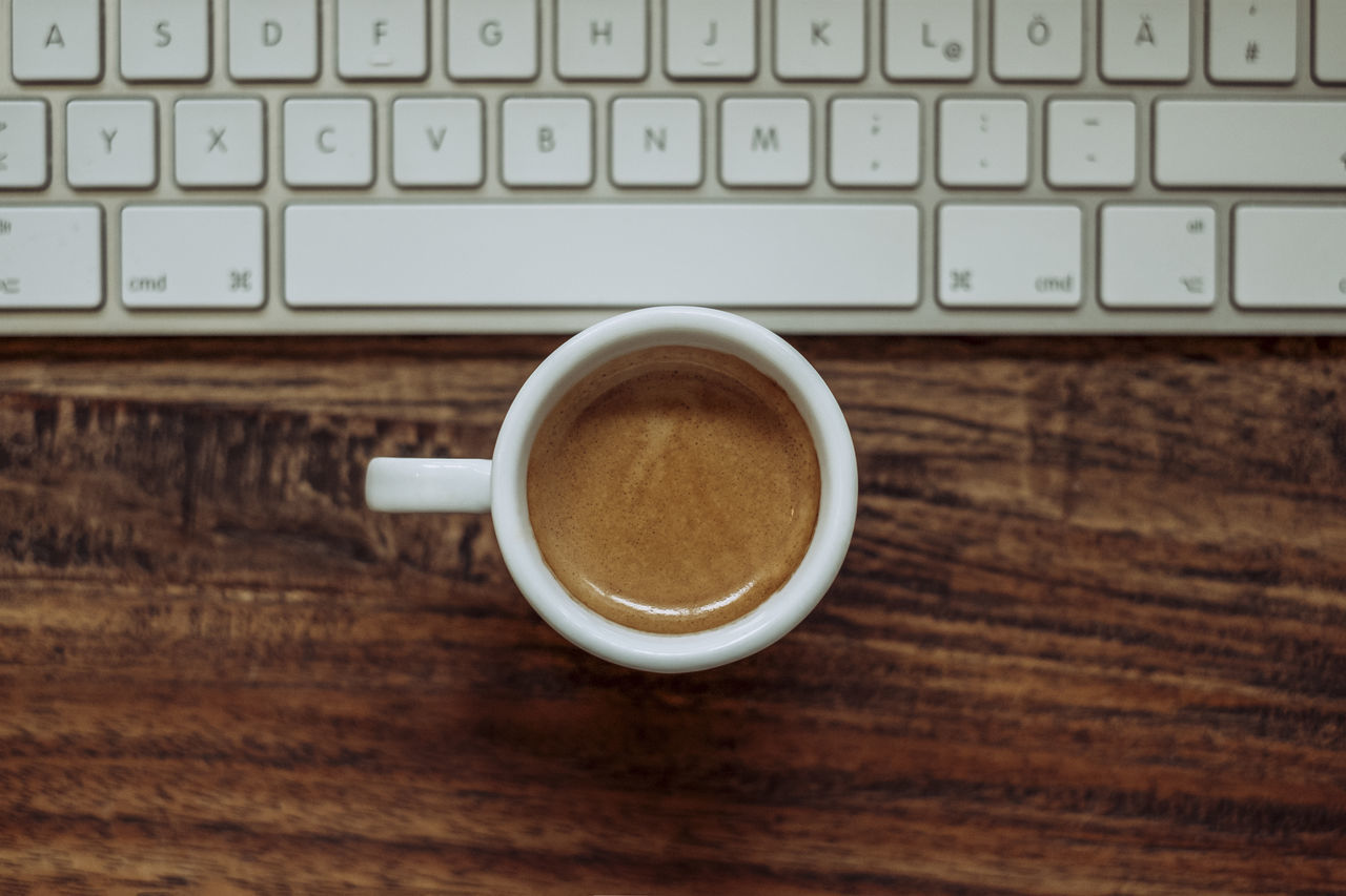 Beautiful stock photos of tastatur,  Close-Up,  Coffee - Drink,  Coffee Cup,  Day