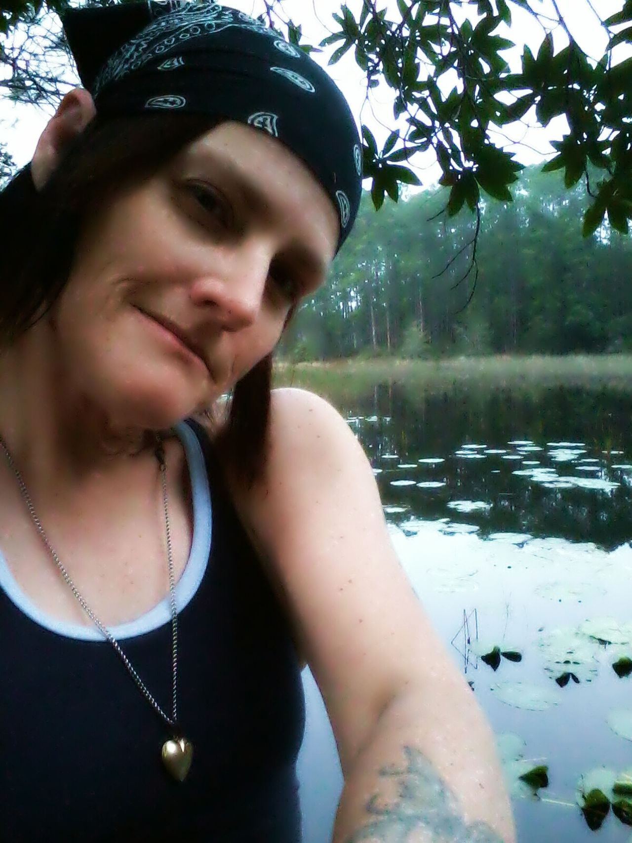 Hi! That's Me Hanging Out at the lil pond this morning on 3/12/15