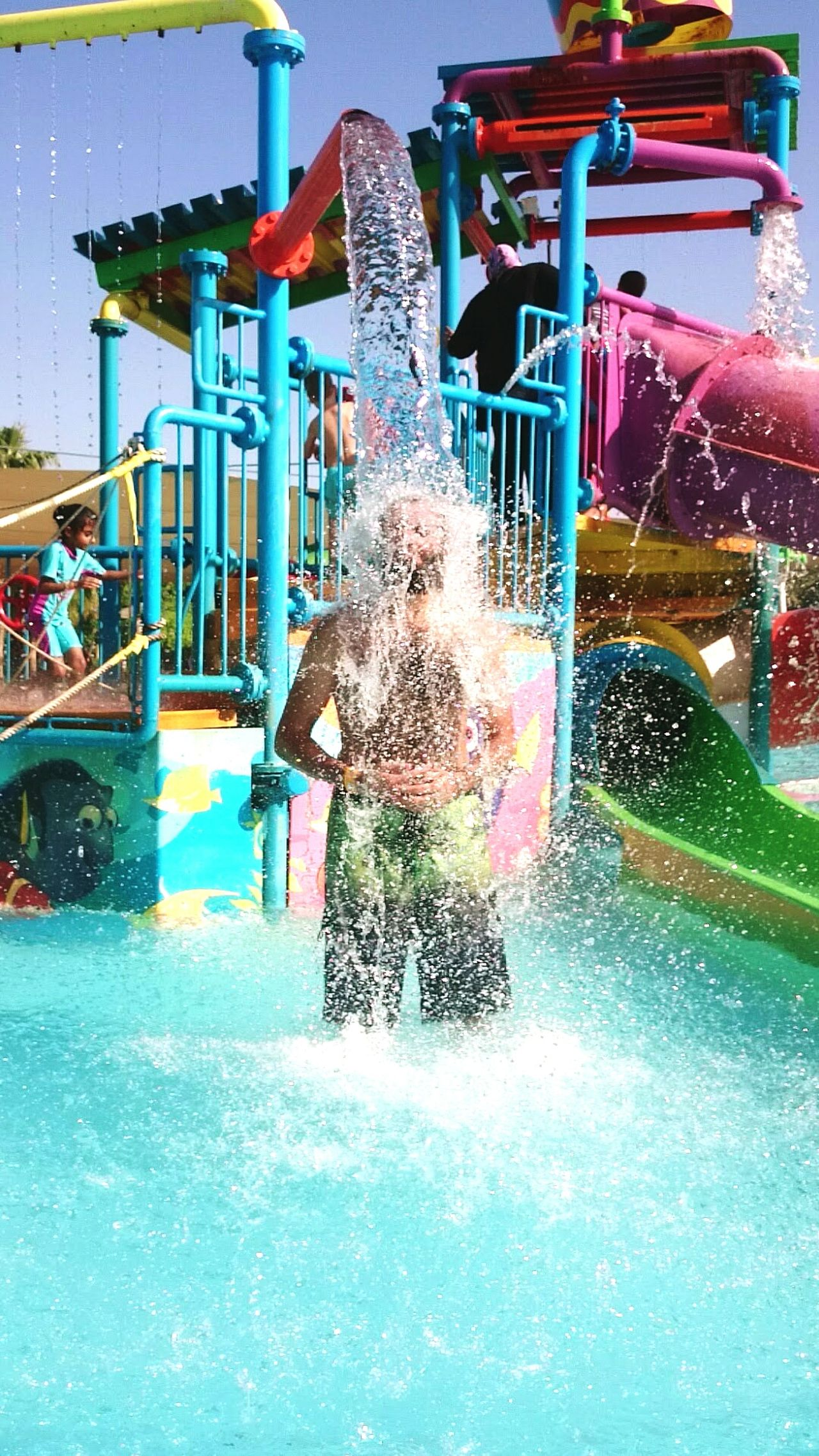 One Person Water Outdoors People Splashing Husband And Wife Waterpark Fun With The Hubby Dubai❤ Um El Qyeen Relaxing