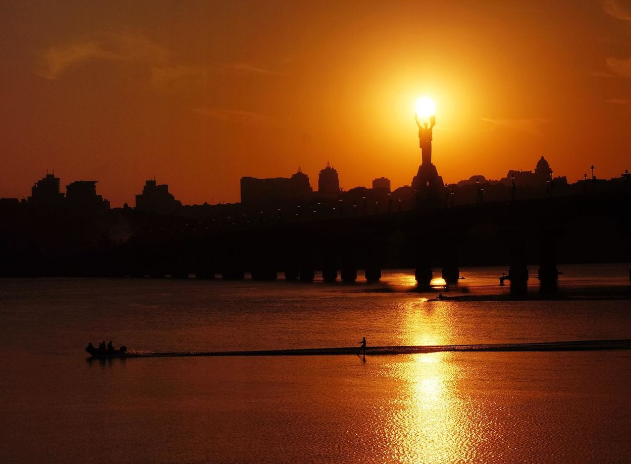 Вечерний Киев Днепр. солнце☀ мост First Eyeem Photo