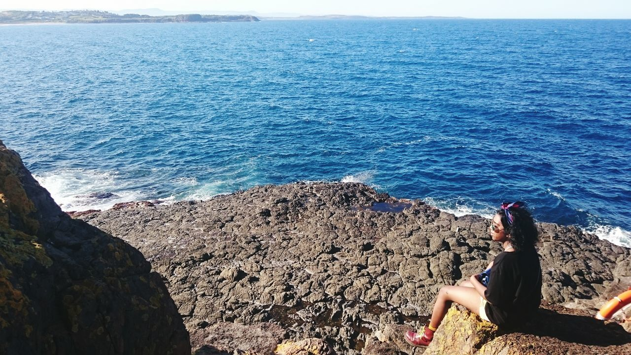 Sea Real People Lifestyles Water Beach Vacations Outdoors Horizon Over Water Beauty In Nature Roadtrip Australian Landscape Australia Kiama  Coastline Cliff Cliffside Clifftop Cliff Edge Cliff View Cliffsandsea Viewfromthetop HuaweiP9 Huaweiphotography EyeEmNewHere