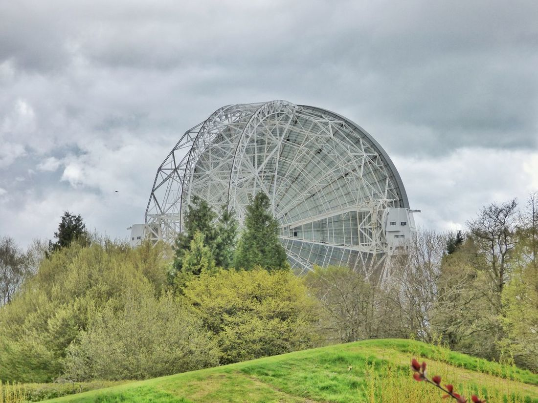 Jodrell Bank, Cheshire #1 // Architecture BIG Cheshire Clouds Countryside Dish EyeEm Best Shots EyeEm Gallery Jodrell Bank Jodrellbank Large Mike Whitby Observatory Photography Photooftheday Picoftheday Science Scientific Sky Sky And Clouds Space Taking Photos Taking Pictures Telescope White