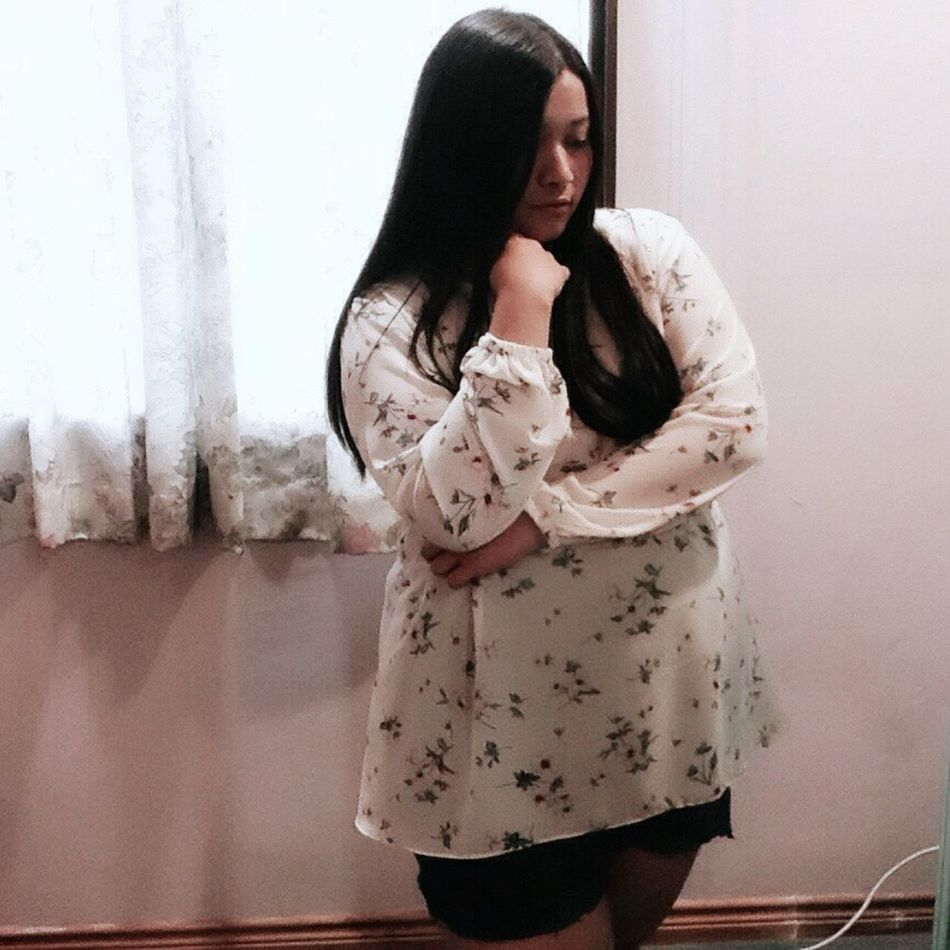 simple summer fashion. or as i would like to call it, lazy to style up 💋😊 Girly Fat Summer Fashion Thats Me  Flowery