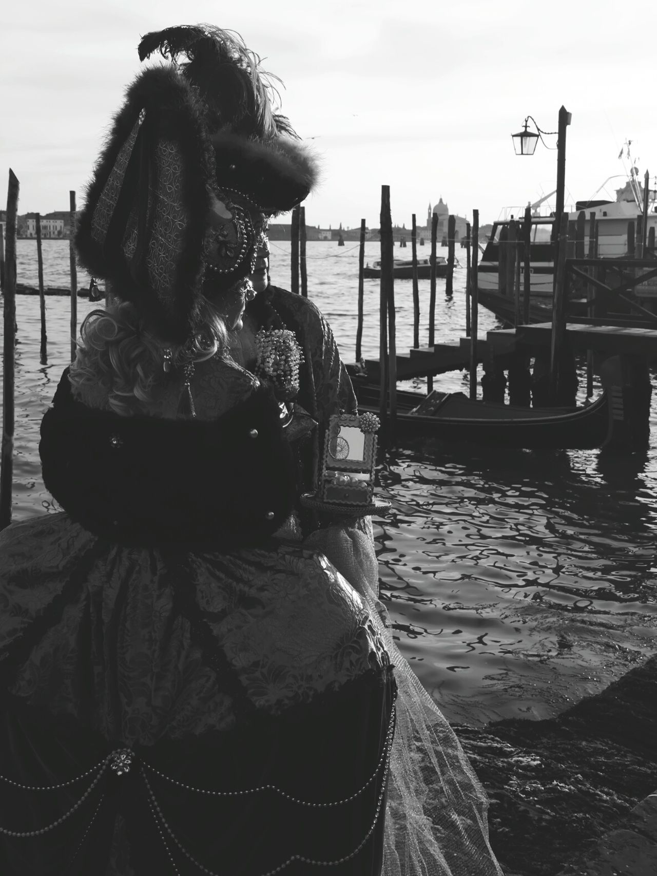 Original Photography Venezia Shadow Gondole In Venice Venice Carnival Venice, Italy Old Foto  Thinking About Life Thinking Of Him Melancholic Landscapes