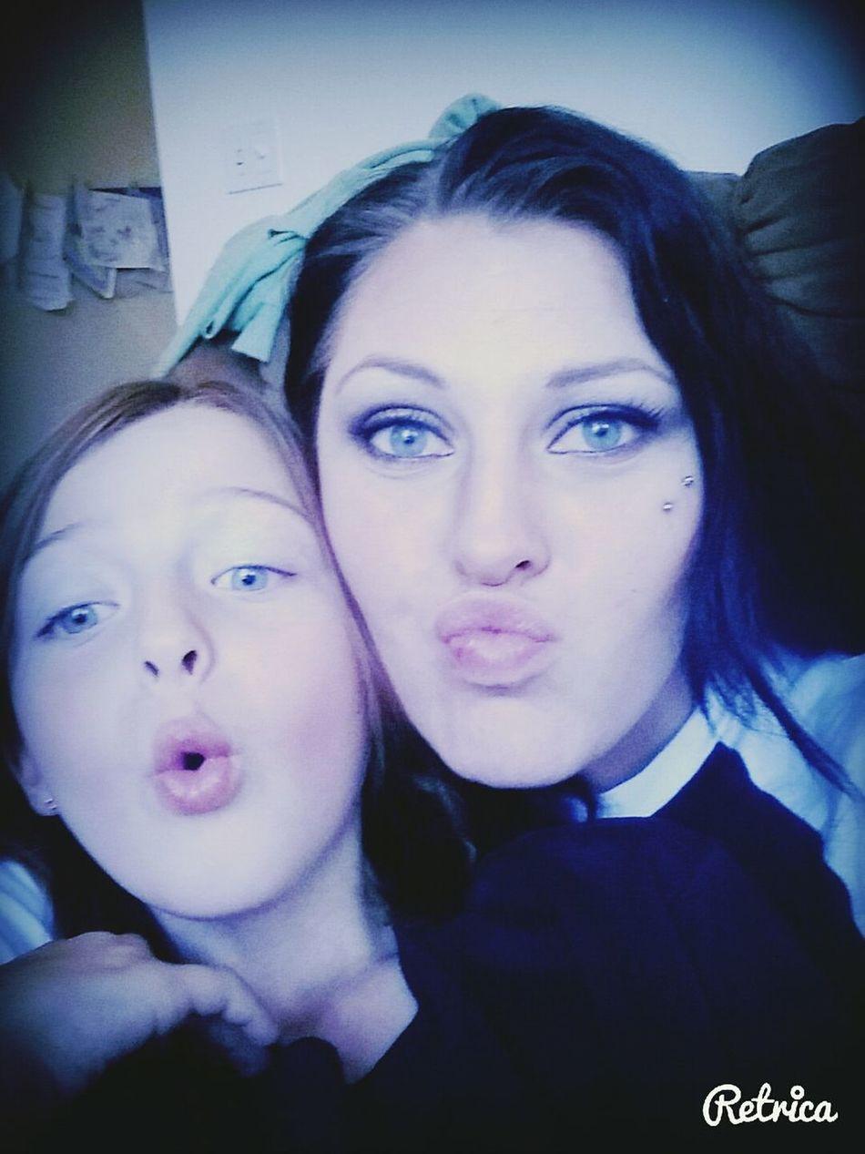 Minime Mommy Daughter Love Kissy Kissy