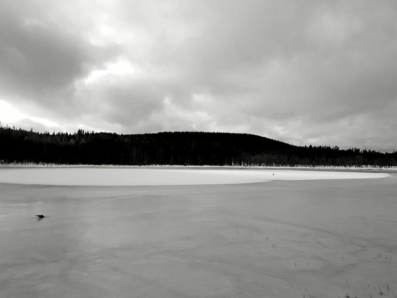 Landscape Nature Beauty In Nature Scenics Outdoors Sky Tree Tranquility Winter Monochrome Black And White Snow Lake Ice Miles Away Welcome To Black The Great Outdoors - 2017 EyeEm Awards