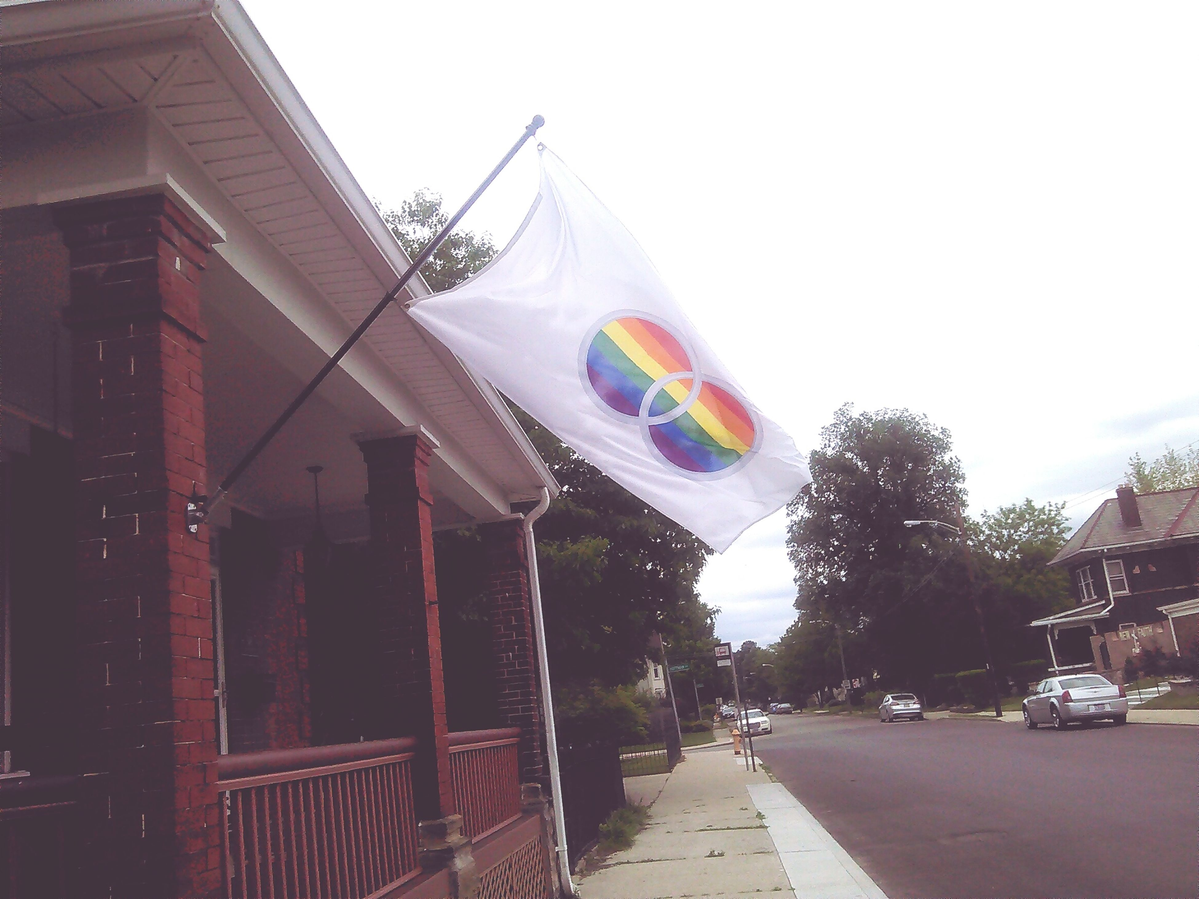My neighbors equality flag Walking Around Soaking It All In