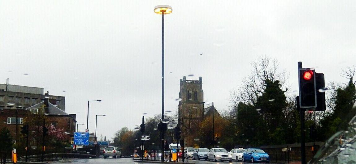 Newcastle Upon Tyne Rain Through The Windscreen