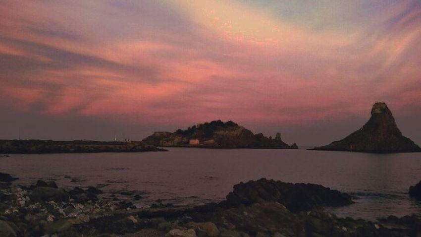 Acitrezza  Outdoors Sunset Travel Destinations Cloud - Sky Landscape Sky Sea Mountain EyeEmNewHere