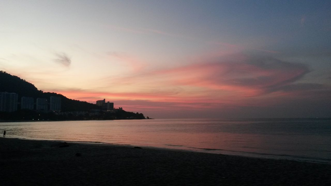 Colours Setting In Just Right Sunset Beach Sky Sea Vacations No People Resist Art Is Everywhere
