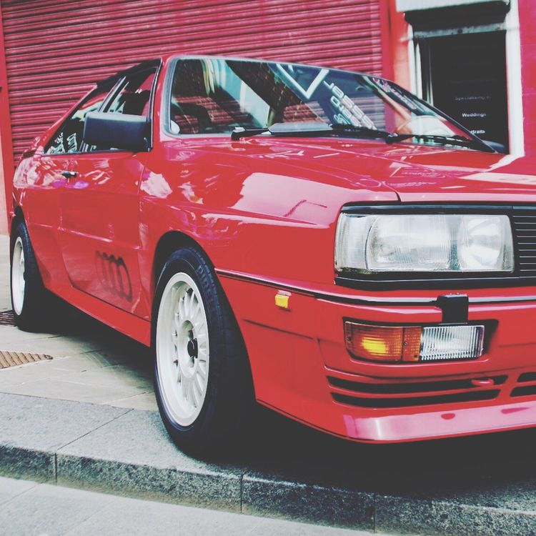 Transportation Red Car Mode Of Transport Land Vehicle Retro Styled Stationary Collector's Car Vintage No People Day Outdoors Audi Quattro CarShow Wakefield City Cars