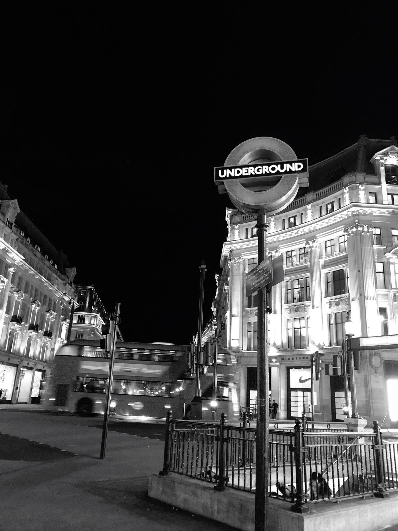 Night Architecture Building Exterior Built Structure Illuminated Travel Destinations City Oxfordstreet Oxford Circus London Underground Londonbus