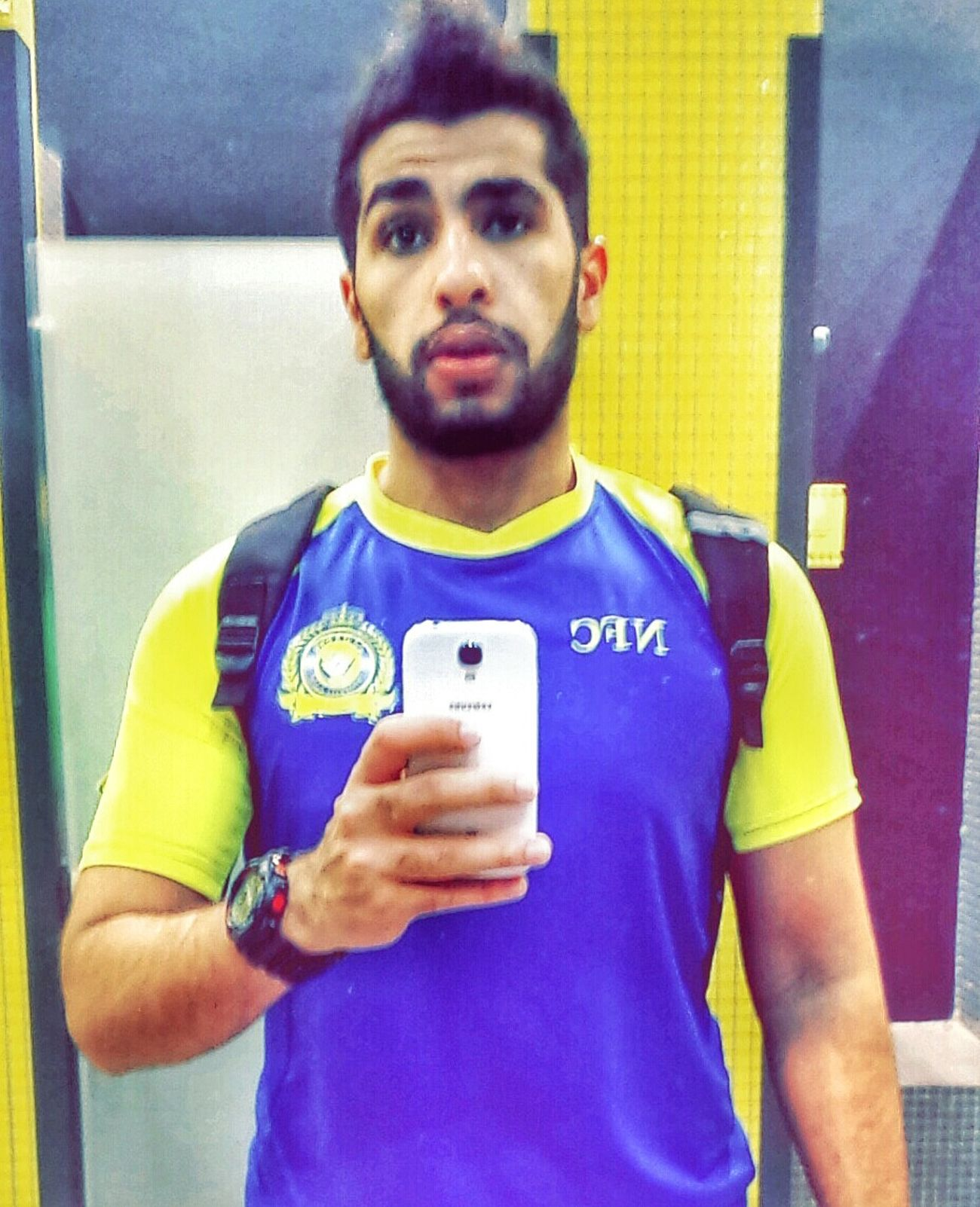 Holy shit, just finished ma work out for today ? Gym Fitness Time Selfie Nassr