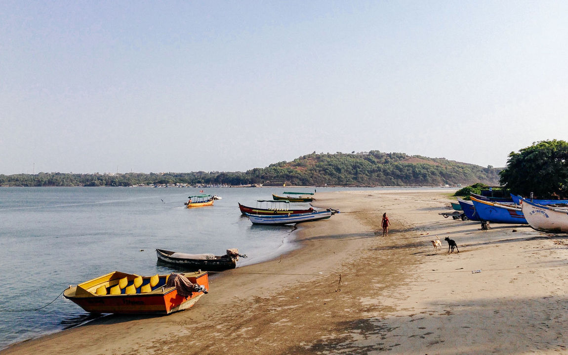 Beach Beauty In Nature Boat Boats Chapora Chapora Cost Clear Sky Goa India Nature River Riverscape Riverside Sand Sea Sea And Sky Sea View Seascape Seaside Shore Tranquil Scene Transportation Travel Water The Great Outdoors - 2016 EyeEm Awards