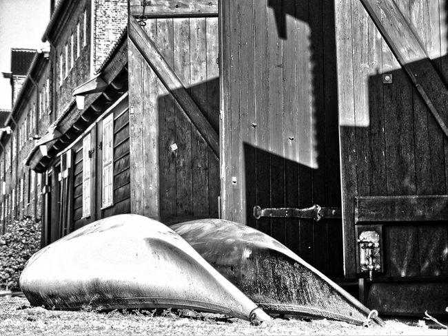 Jetty at copenhagen Black & White Black And White Blackandwhite Boat Boats⛵️ Canoe Canoes Jetty Jetty Area Jetty View Pier Wooden Building Wooden Doors