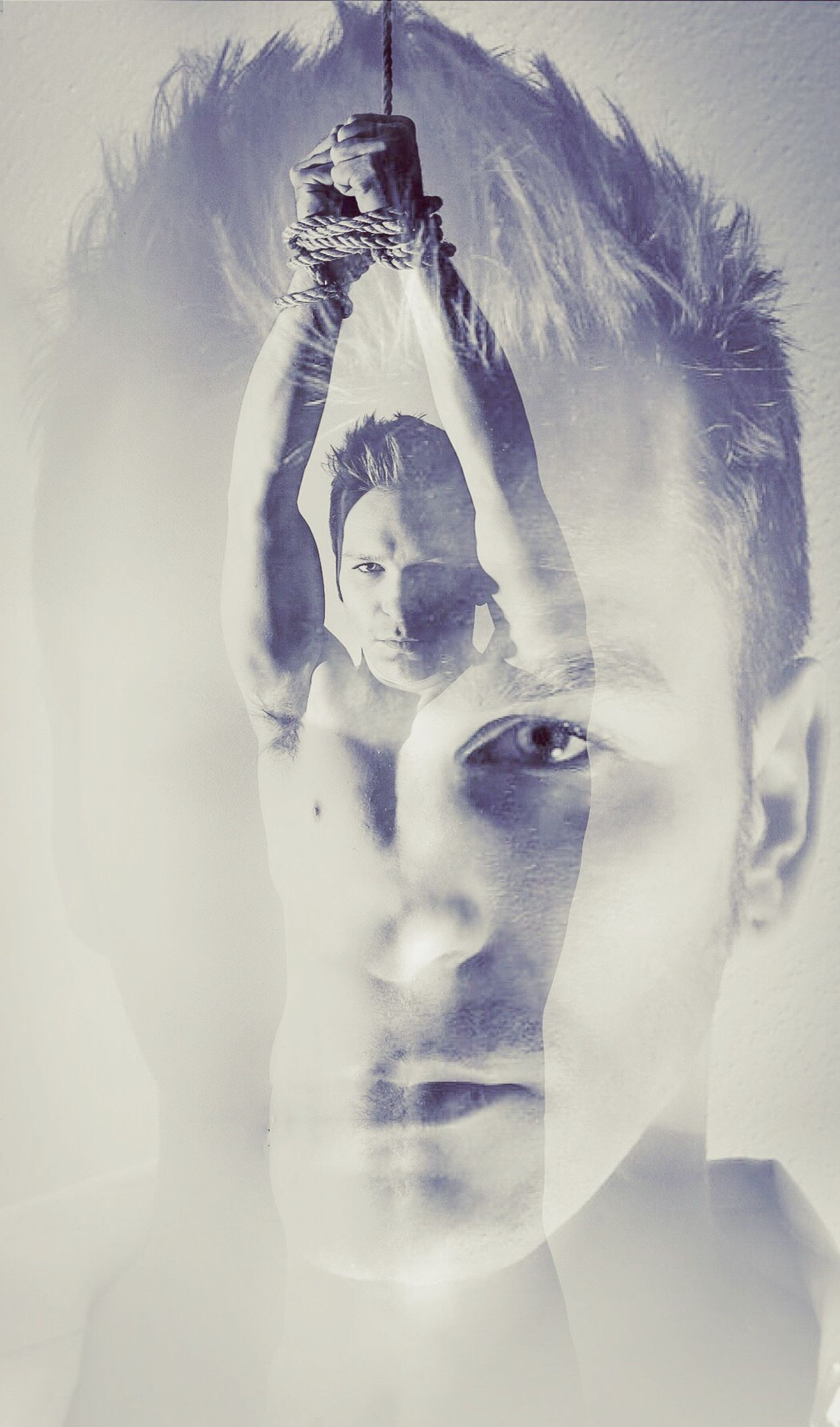 Portrait Headshot Double Exposure Real People Modeling Art Eyes Tied Prisoner Of Dreams... Beautiful People Photoshoot Photo Art
