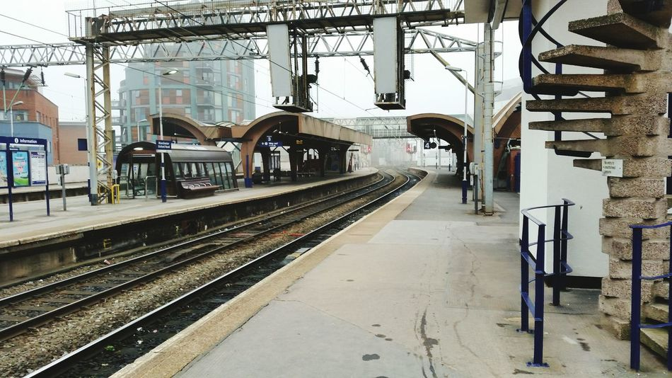 Waiting for my train. Spookly quiet this morning Public Transportation Train Station
