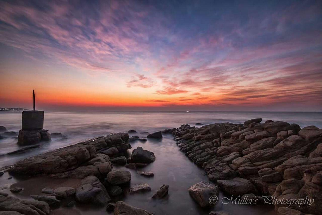 Sunrise Sea Sea And Sky Seascape Hibberdene