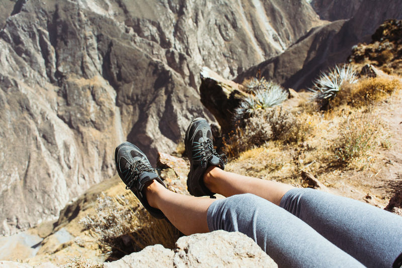 Beauty In Nature Casual Clothing Day From Where I Sit Landscape Legs Legs_only Legsselfie Leisure Activity Lifestyles Mountain Nature Non-urban Scene Outdoors Personal Perspective POV Relaxation Resting Rock Rock - Object Rock Formation Tourism Tranquil Scene Tranquility Vacations