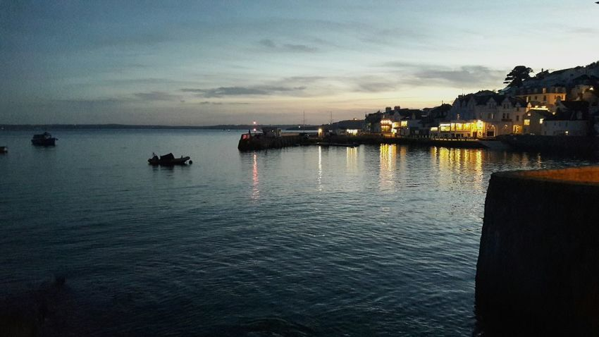 St Mawes by night Tranquility Scenics England 🇬🇧 Night Horizon Over Water Tranquil Scene
