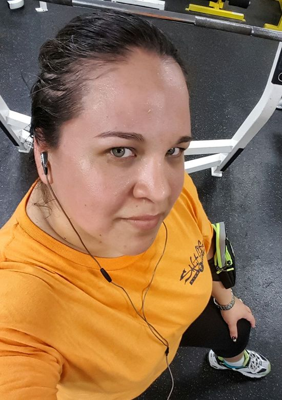 After neaely 40hrs, with only a 2hr nap yesterday afternoon to finish this stretch, i am Feeling Exhausted, No Excuses. The Less Than Perfect Working Out Breaking A Sweat Hazel Eyes  Plussizebeauty Curvy & Beautiful Imnoangel Fakeittillyoumakeit Getitdone Get It Girl At The Gym