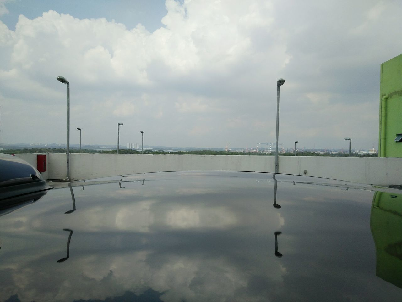 Rooftop Somewhere In Singapore by Killervivian94 | Reflection Sky Outdoors Nature No People Day OPPO Oppo R7s Singapore Carpark Street