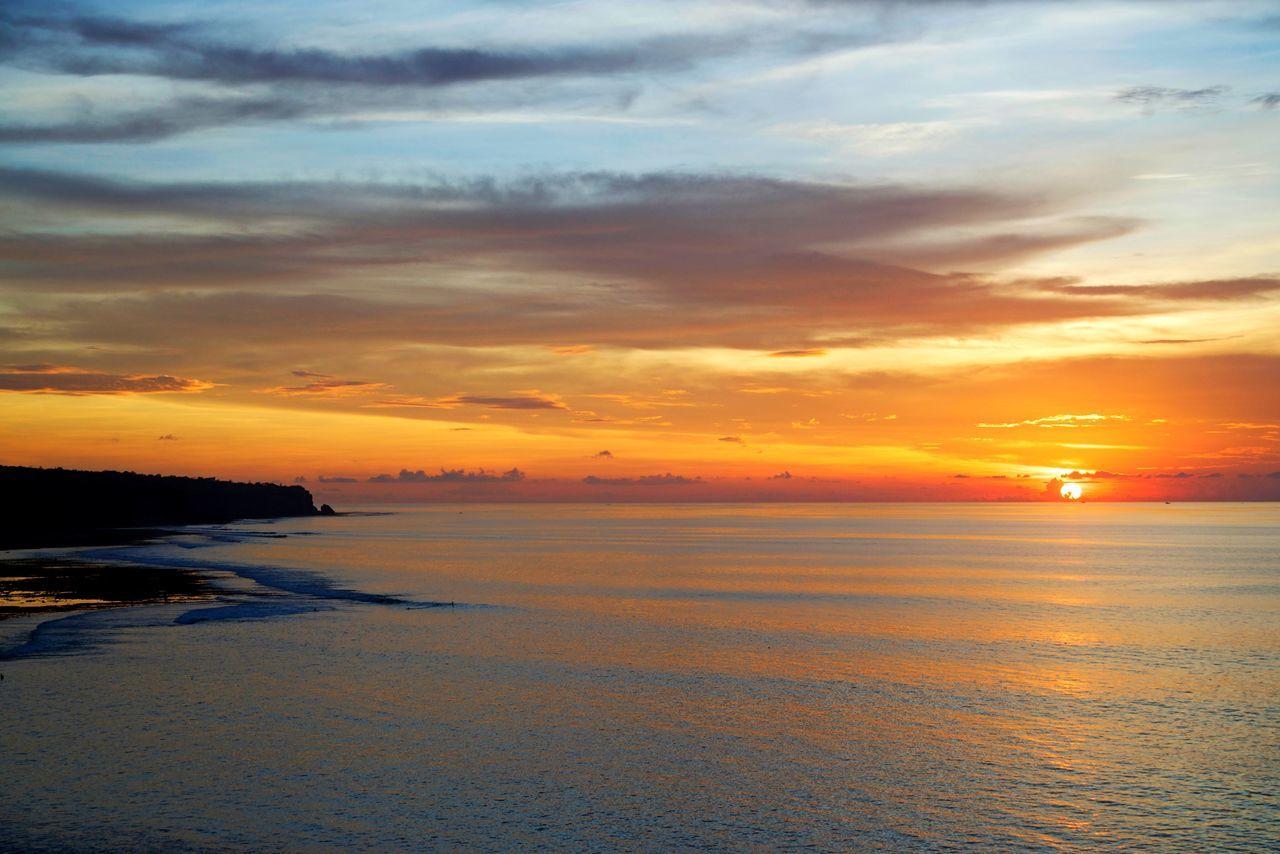 Bali Sunset Nature Travel Destinations Ocean Bali Bingin indonesia Nature Photography