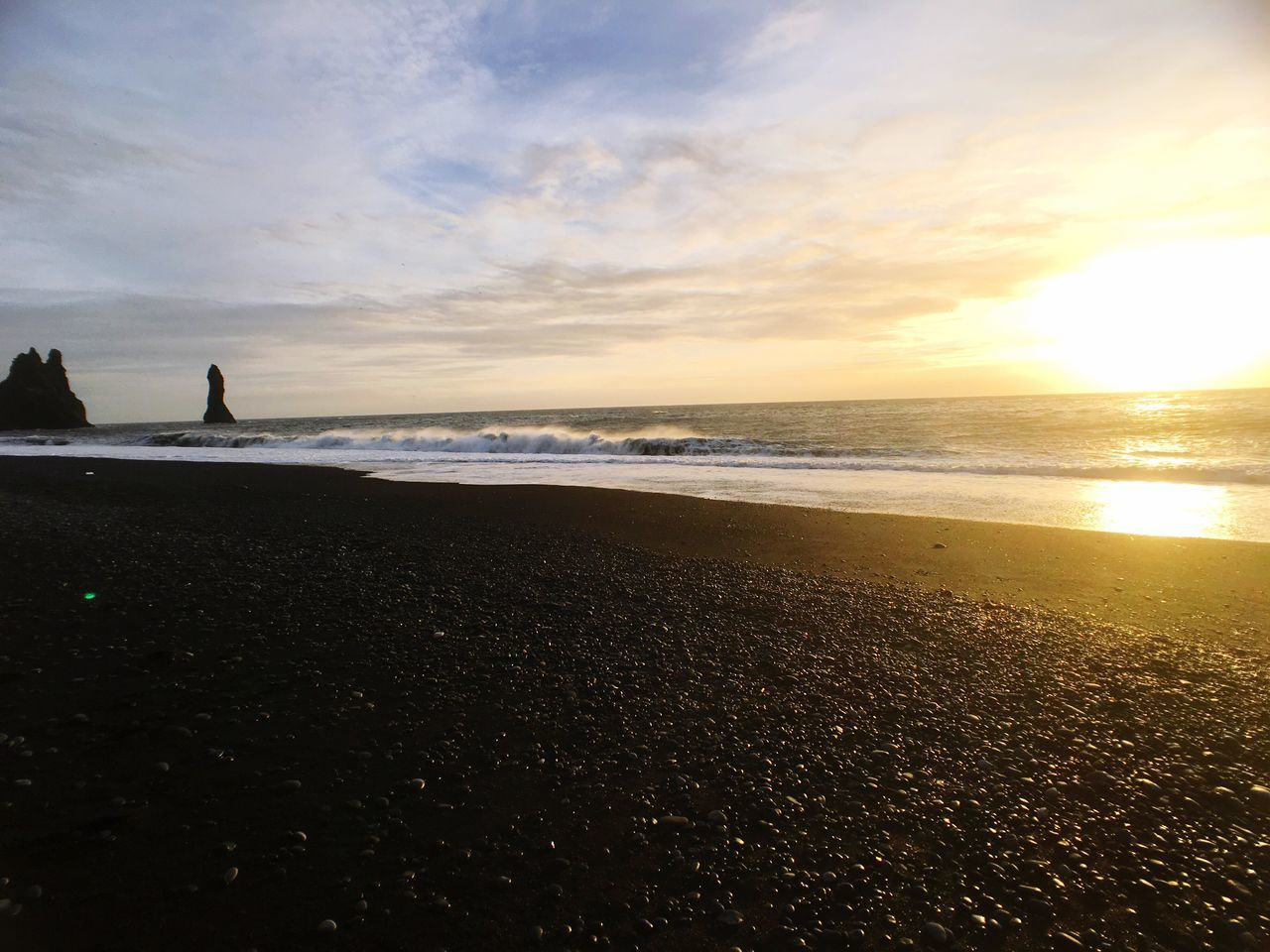 Makemoments Momentwide Iceland Shore Vik Blacksandbeach