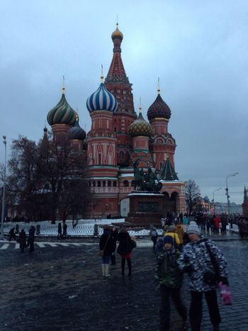 Moscow Russia Kremlin Red Square St Basil's Cathedral