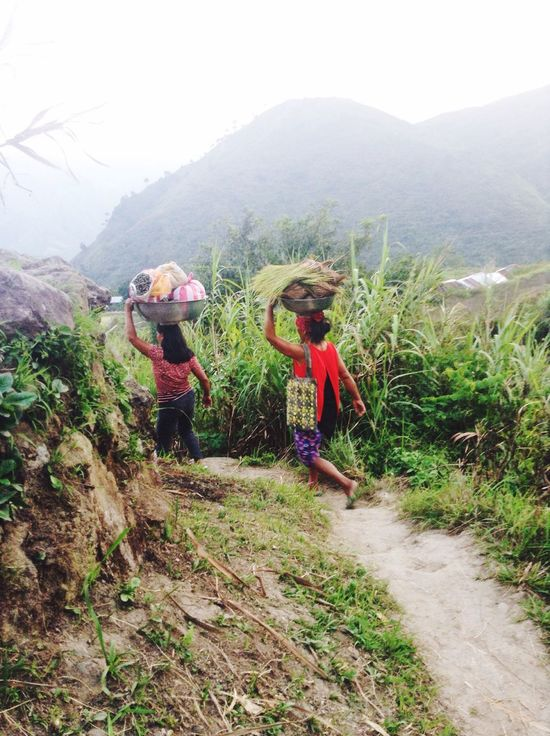 Local people on the road Local People Working Hard Normal Respect Heavy Weight Travel Mountain Life