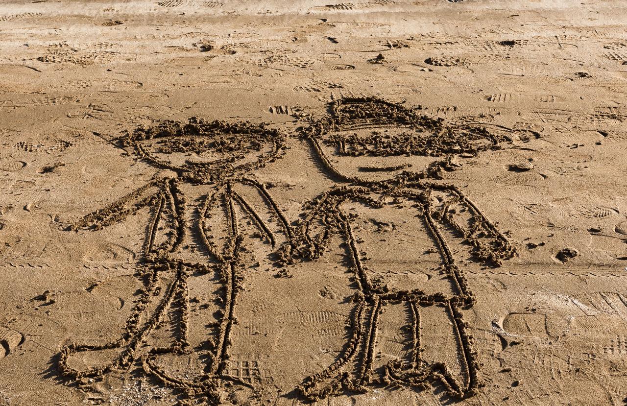 Kizkalesi Shoreline Beach Boy And Girl Castle Drawings Fort Holding Hand Kizkalesi, South, Mersin, Turkey, Mediterranean Kız Kulesi Kızkulesi Narlikuyu Narlikuyu, Turkey, Mersin, South Mediterranean, Mediterranean Sea Ruins Sand Sea