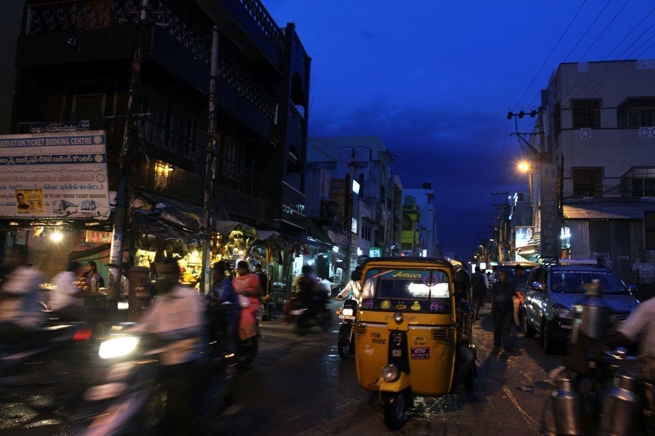Busylife Street Photography Night Traffic Indianroads Tamilnadu Blue Sky Autorickshaw Streetphotography Bluehour