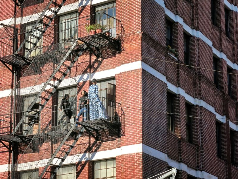 Brickstone Building Building Fire Escapes Model New York Posing First Eyeem Photo