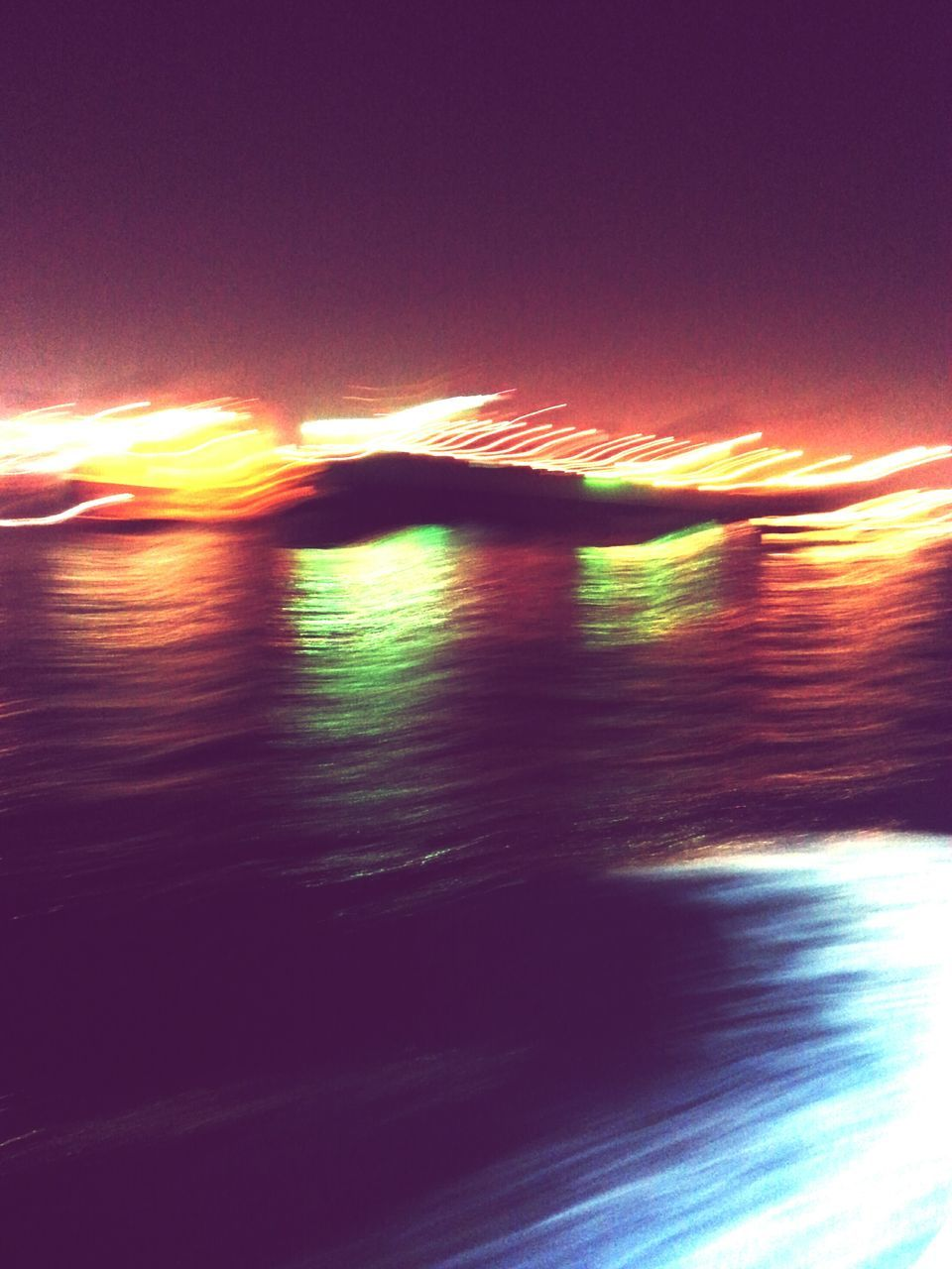 sea, nature, no people, beauty in nature, speed, sunset, outdoors, scenics, motion, sky, sunlight, tranquility, horizon over water, wave, water, day