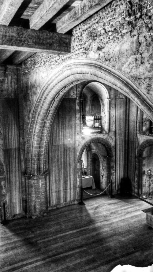 Light And Shadow Arches Stone Arch Architectural Detail Castle Black And White Photography Black&white Black And White Beams Timber Beam Wooden Beams Medieval Architecture