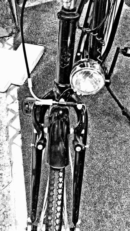 Bycicle Parked Bike Parked Bicycle Popular Photos EyeEm Gallery EyeEm The Best Shots EyeEm Best Shots Eyeemphotography Eye4photography  Check This Out EyeEmBestPics Streetphotography_bw B&w Photography EyeEm Best Shots - Black + White Headlight Black & White Eyeem Bycicle