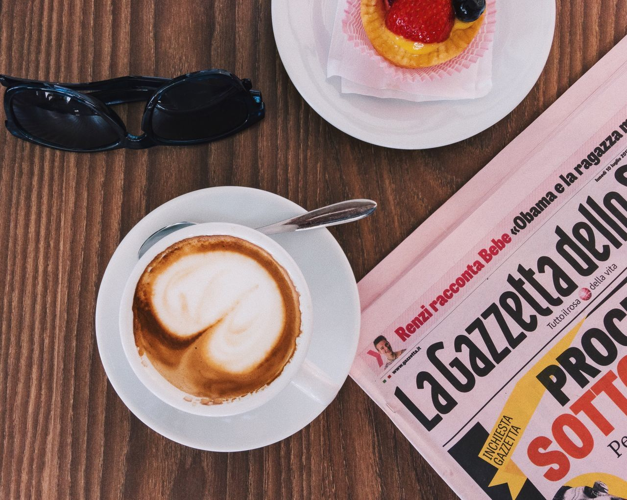 Italian colazione... Drink Coffee - Drink Coffee Cup Food And Drink Refreshment Frothy Drink Indoors  Freshness High Angle View Saucer No People Food Froth Art Cappuccino Close-up Latte Sweet Food Ready-to-eat Coffee Breakfast Colazione Details Of My Life Delicious Newspaper Enjoying Life