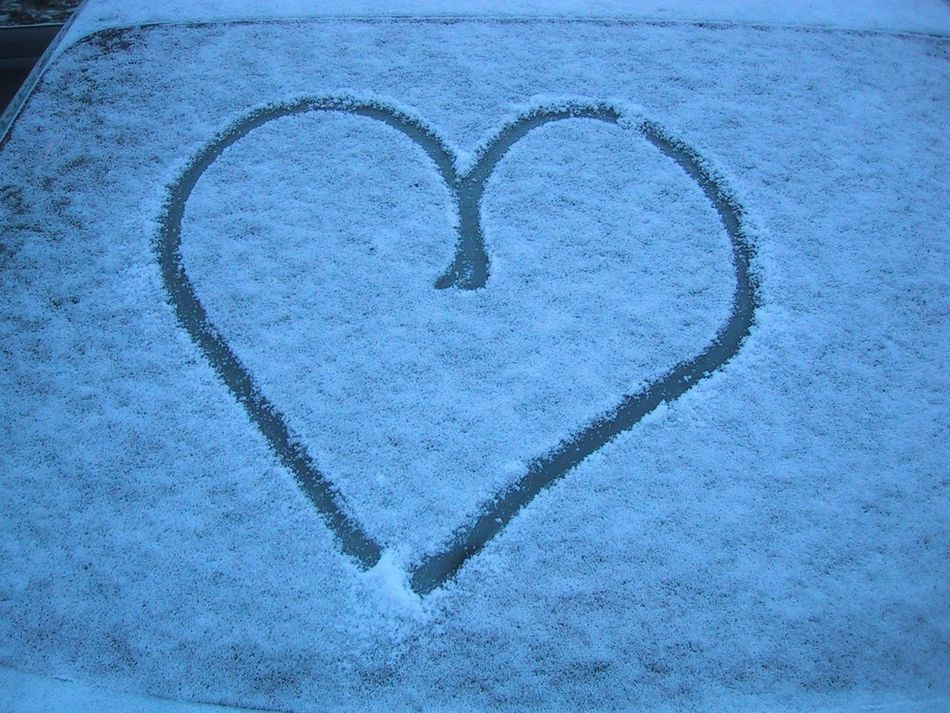 Art Is Everywhere Close-up Cold Temperature Day Heart Shape Love Nature No People Outdoors Snow Winter