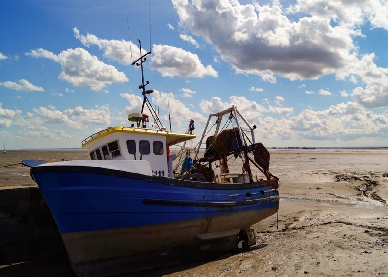 The Great Outdoors With Adobe Fishing Boat Boat Cloudporn Thames Thames Estuary Old Leigh Leigh On Sea Essex The Great Outdoors - 2016 EyeEm Awards