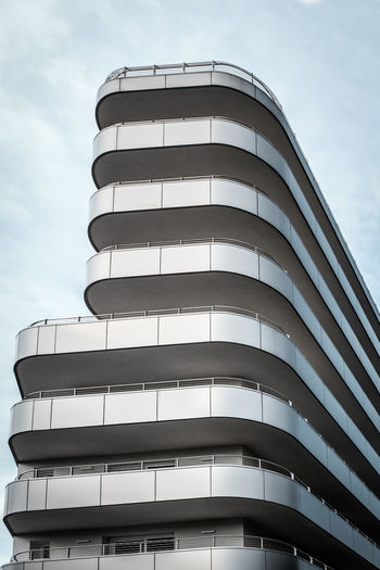 Bibione Architectural Feature Architecture Bibione Building Building Exterior Building Story Built Structure City Curve Day In A Row Lignano Low Angle View Modern No People Office Building Outdoors Repetition Sky Skyscraper Tall - High Tower