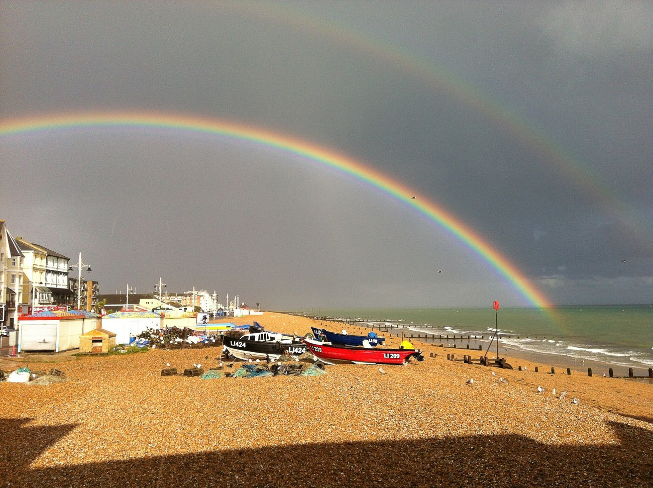Behind the last photograph was a Rain Bow Worthing Sea And Sky