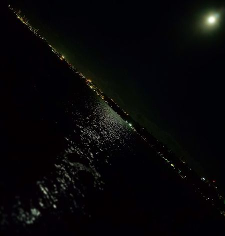 Night Sky Illuminated Moon Over The Ocean Guamlife Nightscape