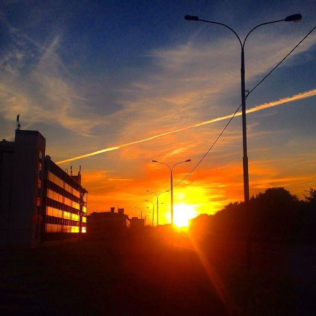Sunset Sun Sky Evening
