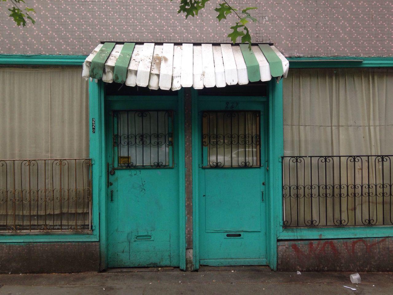 East Vancouver Duplex Hastings 1960s 1970s Door Teal