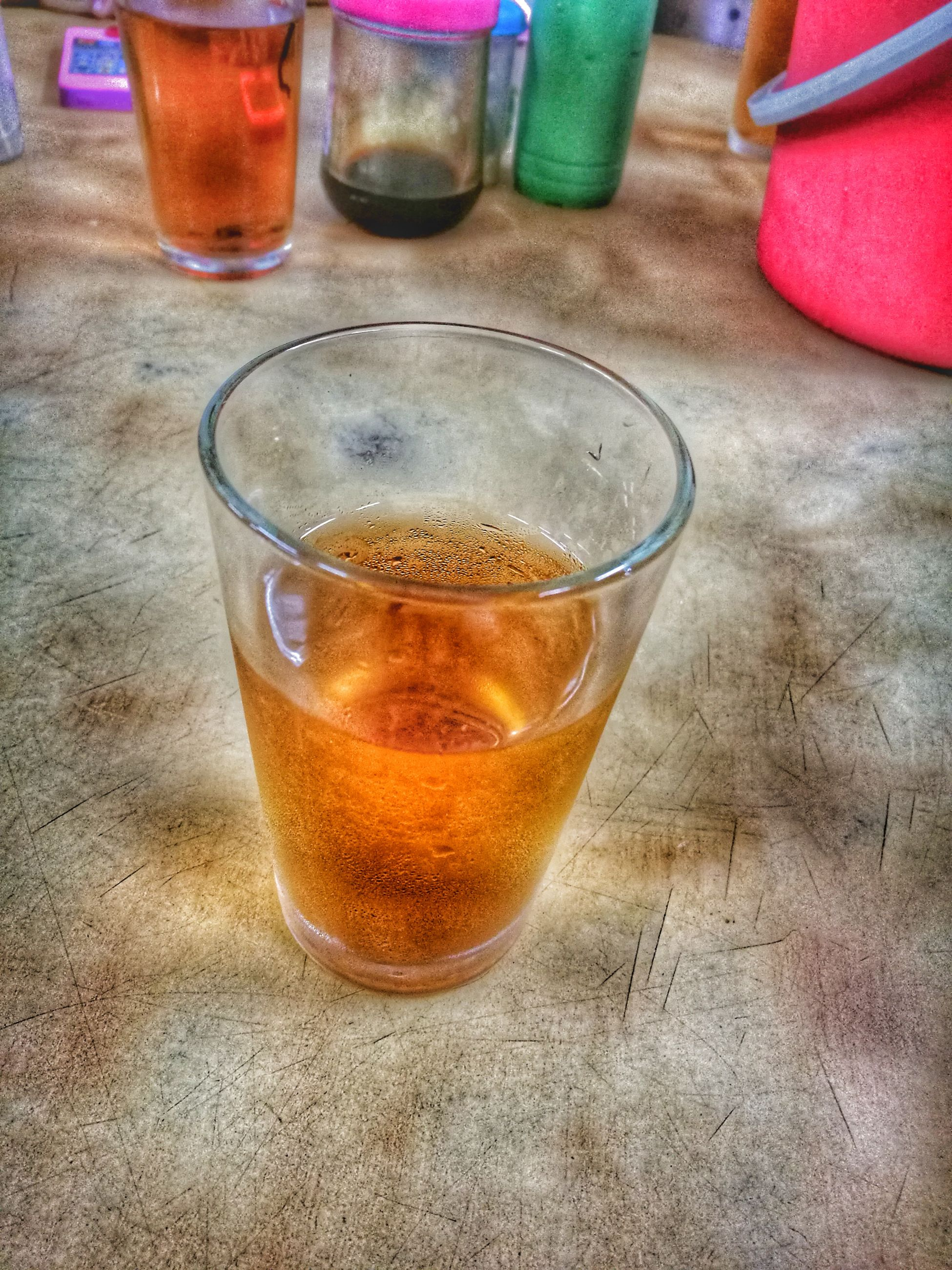 drink, high angle view, drinking glass, food and drink, table, refreshment, no people, tea - hot drink, indoors, alcohol, close-up, freshness, day