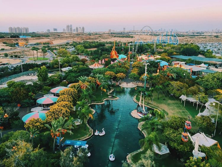 Water High Angle View Tree Architecture Built Structure Building Exterior Nature Outdoors Nautical Vessel No People Sky Day Beauty In Nature Cityscape Theme Park Huawei My Year My View