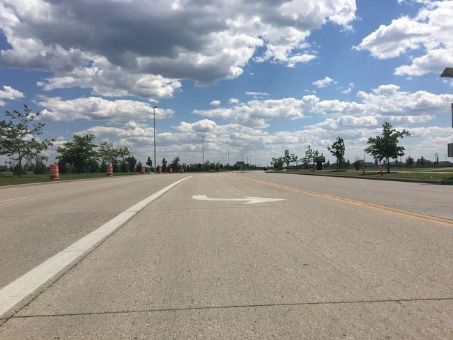 June 5, 2016 / Fargo, North Dakota Asphalt Cloud Cloud - Sky Clouds Cloudy Country Road Day Diminishing Perspective Empty Empty Road Fargo Long No People North Dakota Outdoors Road Road Marking Sky Skyporn South Fargo Spring Surface Level The Way Forward Tree Vanishing Point