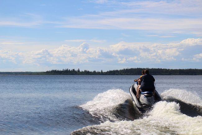 Summer TheWeekOnEyeEM Blue Sky Cloud Water Jetski Jet Found On The Roll Speed Fun People Together